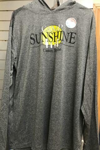 adbc19e459 These grey lightweight hoodies are perfect for the warm weather. They have  UPF 30+ sun protection and moisture-wicking fabric.